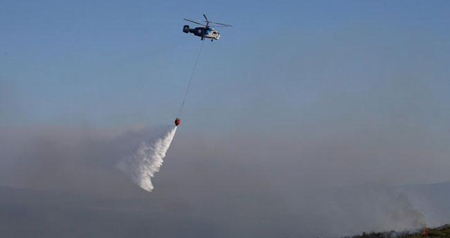 İzmir'de yangın söndürme helikopteri düştü!