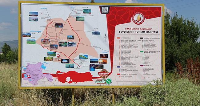 Seydişehir turizm levhaları yenilendi