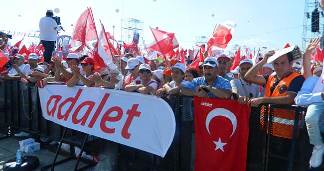 Adalet Yürüyüşüne Konya'dan destek