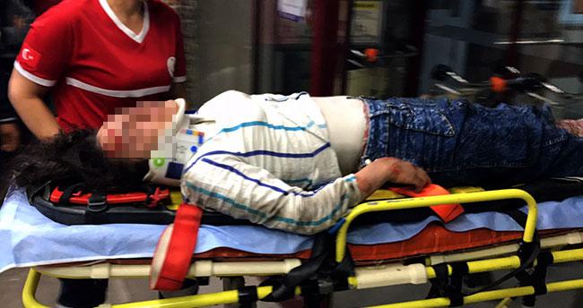 Konya'da seyir halindeki otomobilden atlayan genç kız ağır yaralandı
