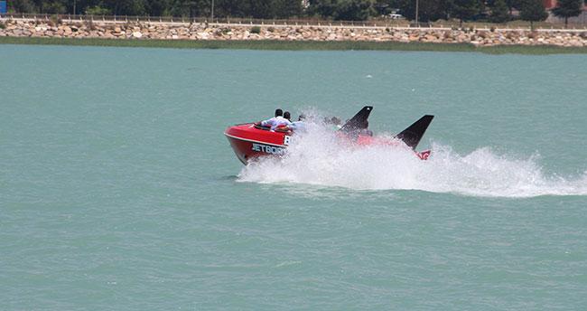 Beyşehir Gölü'nde Jetboat keyfi