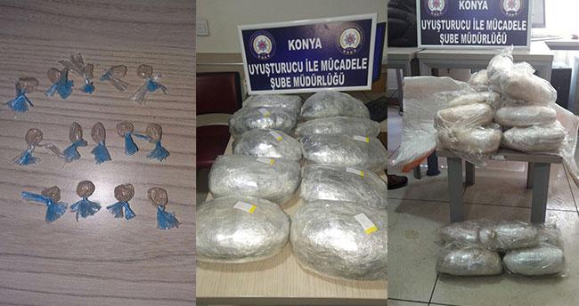 Konya merkezli uyuşturucu operasyonu! 25 şüpheli gözaltında