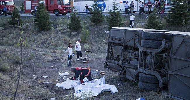 Ankara-Konya yolunda yolcu otobüsü şarampole uçtu: 4 ölü 20 yaralı