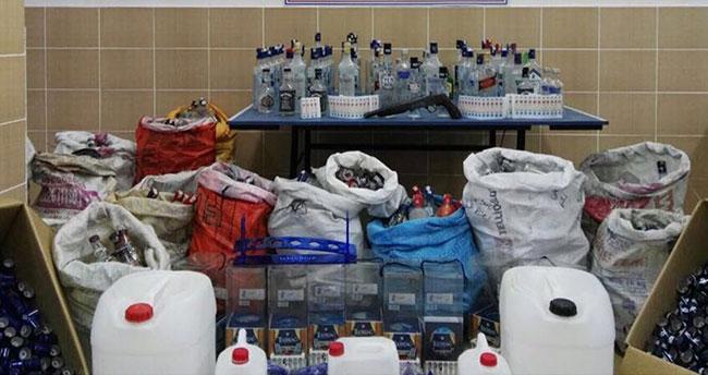 Konya'da sahte içki operasyonu