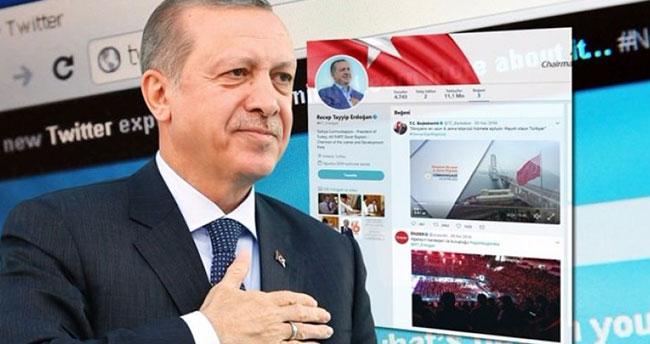 Erdoğan Twitter'da bu 3 tweeti beğendi