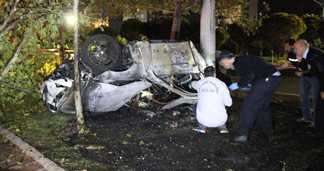 Konya'da feci kaza! 3 kişi yanarak can verdi