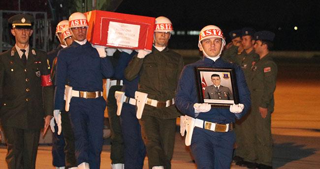 Karamanlı Şehidimizin cenazesi Konya'ya getirildi