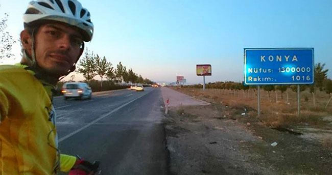 Bisiklet tutkunu iki ayda 9 bin 300 kilometre yol aldı