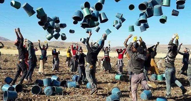 Konya'da işçilerin sevinci fenomen oldu!