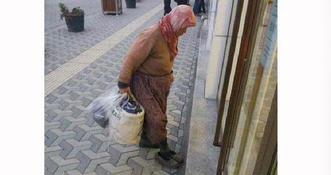 Bankaya çamurlu ayakkabılarını çıkarıp girdi