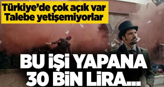 Bu işi yapana 30 bin lira! Türkiye'de çok açık var