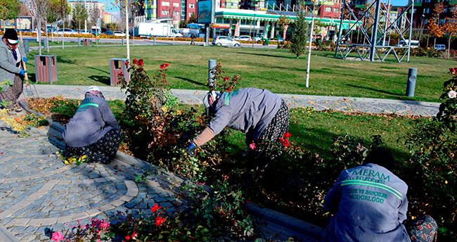Meram'da parklar kışa hazırlanıyor