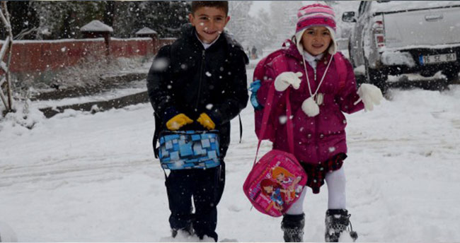Birçok ilde eğitime kar tatili!