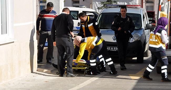 Konya'da polisten kaçan şüpheli ayağını kırdı