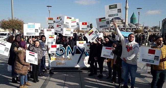 72 Ülkeden, 72 Üniversite Öğrencisi, Konya'dan Dünyaya Birlik Mesajı Verdi
