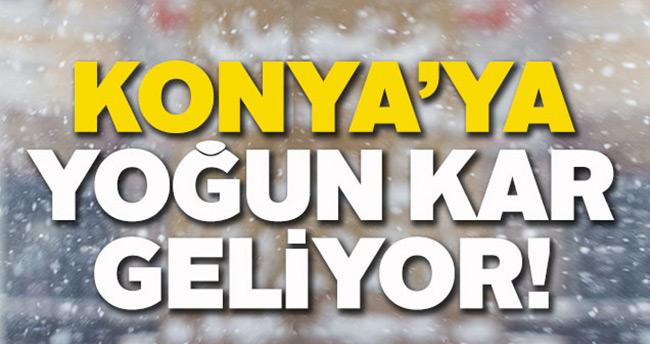 Meteoroloji uyardı, Konya'ya yoğun kar geliyor
