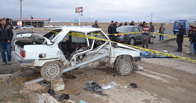 Aksaray-Konya yolunda kaza: 1 ölü, 5 yaralı