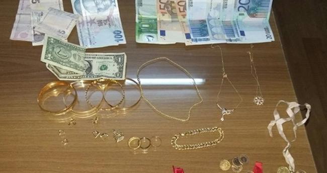 Hırsız yakalanınca para ve altınları çalınan aile şoke oldu