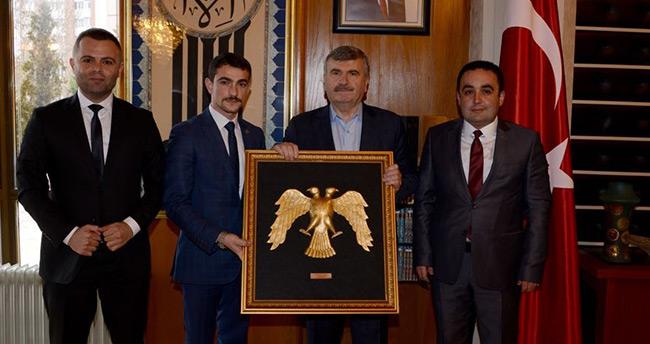 Konya Ülkü Ocaklarından Başkan Akyürek'e ziyaret