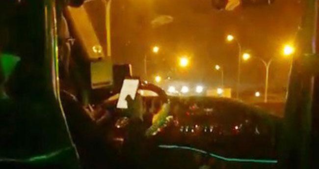 Konya'da dolmuş şoförü pes dedirtti
