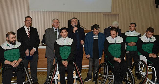 Konya Büyükşehir'den Tekerlekli Sandalye Basketbol Takımı'na destek