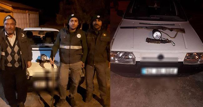 Konya'da farla ava 2 bin 356 lira ceza