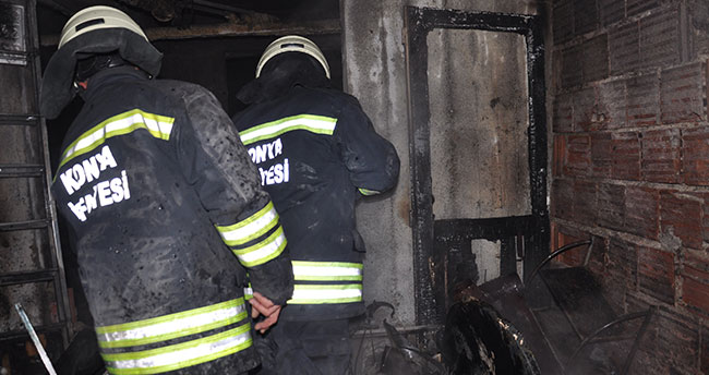 Konya'da tüp patladı! 8 daire hasar gördü