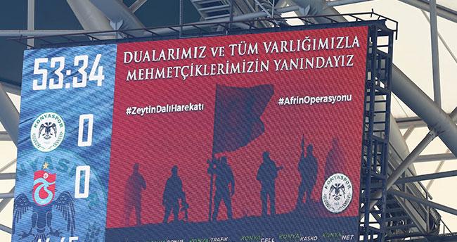 Konyaspor taraftarı Afrin'i unutmadı