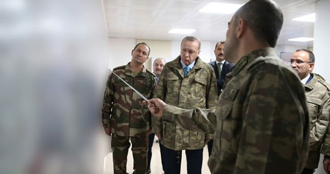 Erdoğan operasyon bölgesinde! İlk görüntüler