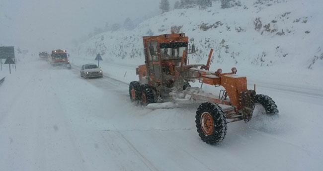 Konya-Antalya karayolu kısmen trafiğe açıldı