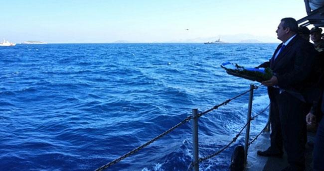 Kardak'ta gerilim! Yunan bakan adaya yaklaştırılmadı!