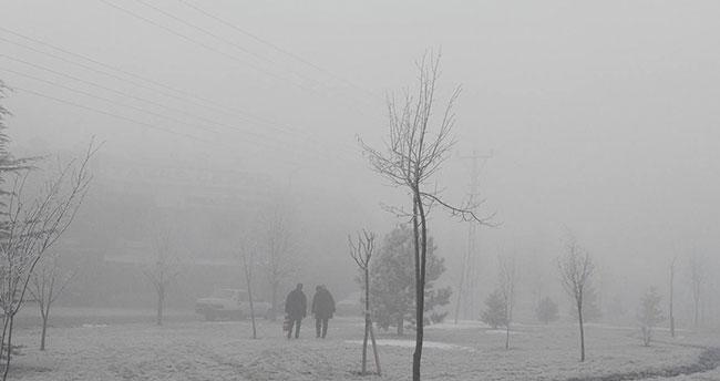 Konya'da yoğun sis