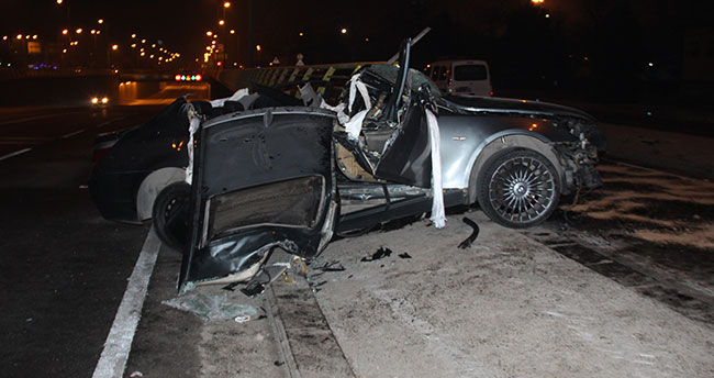 Konya'da gizli buzlanma kaza getirdi 2 ölü, 1 yaralı