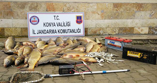 Konya'da elektroşokla balık avına 32 bin lira ceza
