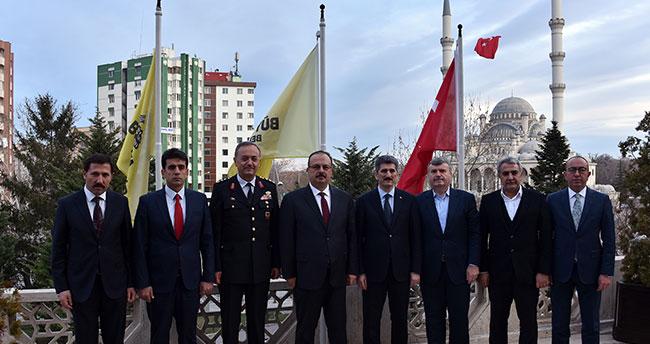 İçişleri Bakanlığı Müsteşarı İnce'den Başkan Akyürek'e Ziyaret