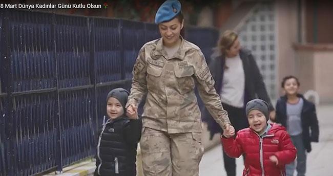 Jandarma, Dünya Kadınlar Günü'nü kliple kutladı