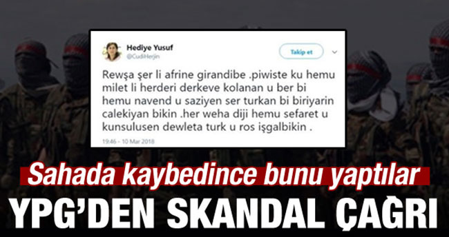 YPG sahada kaybedince Avrupa'ya sığındı!