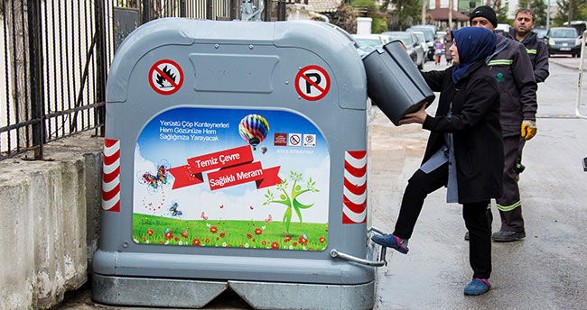 Meram'da yeni nesil çöp konteynerleri