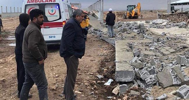 Konya'da inşaat duvarı çöktü: 2 ölü, 2 yaralı