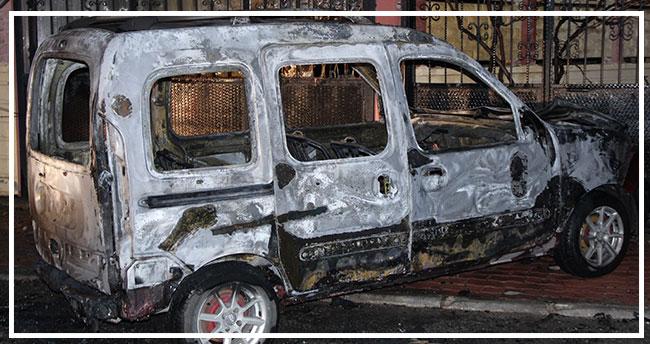 Konya'da park halindeki araç kundaklandı