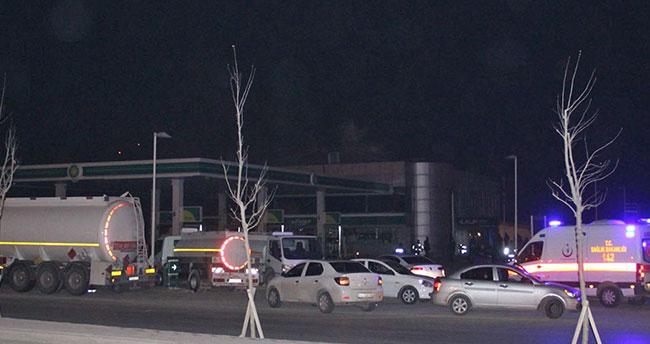 Konya'da akaryakıt istasyonunda çıkan yangın korkuttu