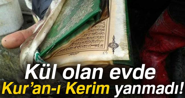 Kül olan evde Kur'an-ı Kerim yanmadı