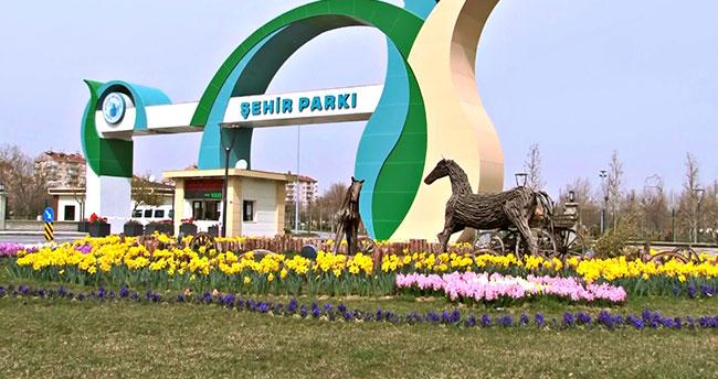 Karatay'ın parkları baharı lalelerle karşıladı