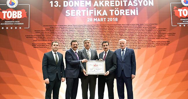 Konya Ticaret Borsası'na mükemmel hizmet ödülü