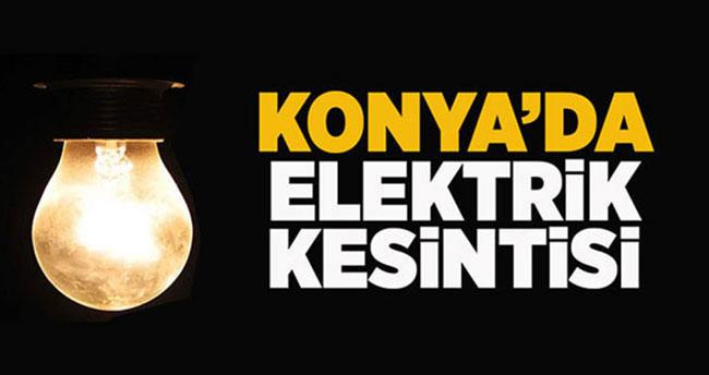 Konya'da elektrik kesintisi! İşte kesintinin yapılacağı bölgeler