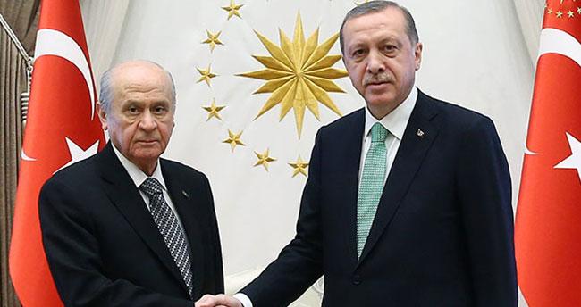 Cumhurbaşkanı Erdoğan-Bahçeli görüşmesi sona erdi!
