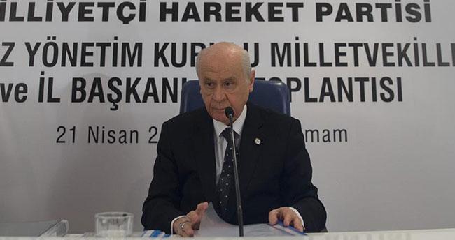 MHP Genel Başkanı Bahçeli: Adayımız Sayın Recep Tayyip Erdoğan'dır