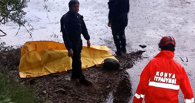 Konya'da sulama kanalına giren kişi boğuldu