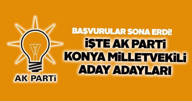 Aday adaylığı için başvurular sona erdi – Konya Milletvekili aday adayları