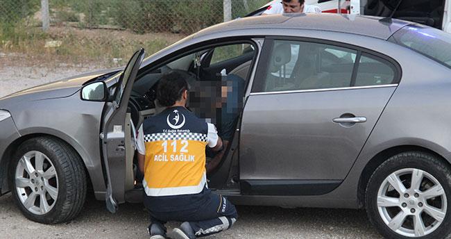 Konya'da bir kişi park halindeki aracın içinde ölü bulundu